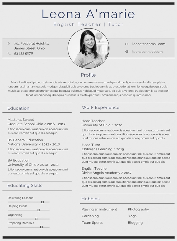 35+ Sample CV Templates  PDF, DOC - Teacher cv template, Cv template word, Teacher resume template, Teacher cv, Cover letter teacher, Cv template - A CV, short form of curriculum vitae, is similar to a resume  It is a written summary of your academic qualifications, skill sets and previous work experience which you…