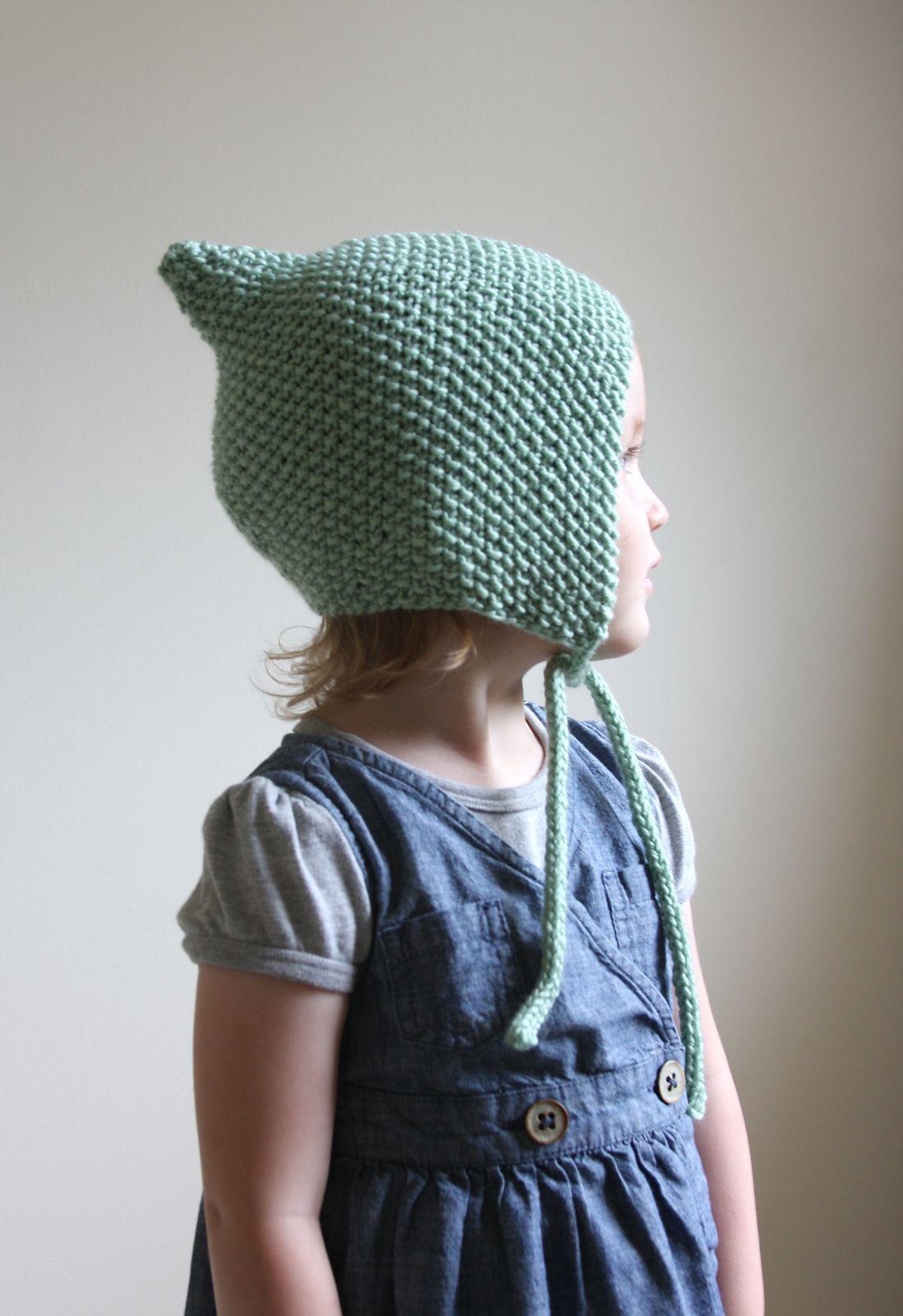 Knit Beanie Pattern Ravelry : Ravelry: Knit Pixie Bonnet Pattern - Baby Bonnet Pattern - Hat Pattern - Knit...