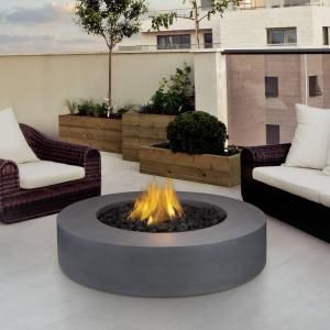 real flame mezzo 42 in round flint gray propane gas fire pit 9660lp rh pinterest com