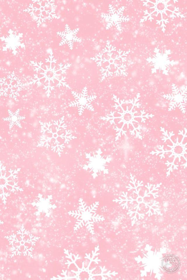 Cute Pink Snow Wallpaper Snow Wallpaper Iphone Christmas Wallpaper Iphone Cute Snowflake Wallpaper