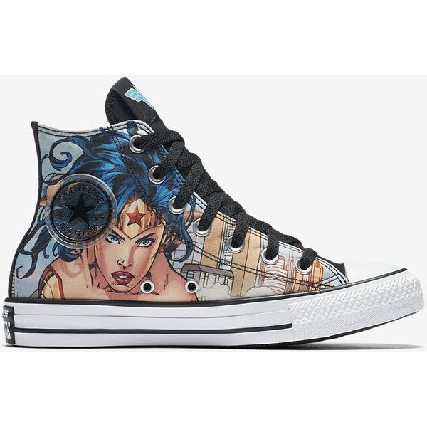 fb1d1ff8979d Converse Chuck Taylor All Star DC Comics Wonder Woman High Top Unisex...  ( 60) ❤ liked on Polyvore featuring shoes