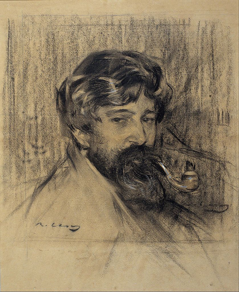The Athenaeum - Portrait of Santiago Rusiñol (Ramon Casas y Carbó - )