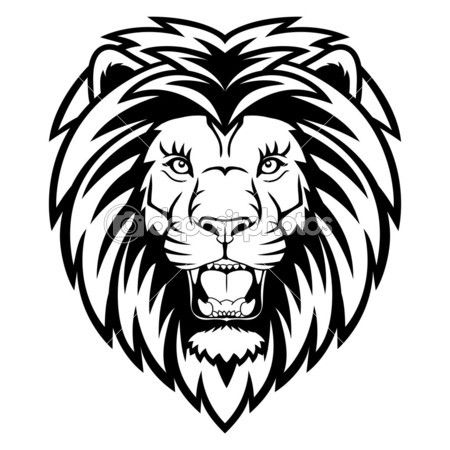 Lion anger by komissar008 - Stock Vector