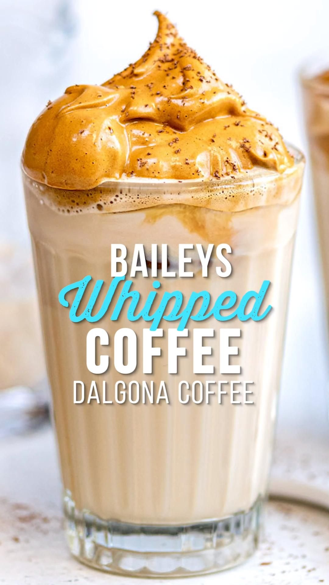 Take the viral three ingredient Dalgona Coffee a step further. Presenting Baileys Whipped Coffee… prepare to be obsessed! #DalgonaCoffee