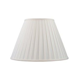 Livex Lighting S596 Lampshade with White Shantung Silk Pleat Empire Shade from Lampshade Series