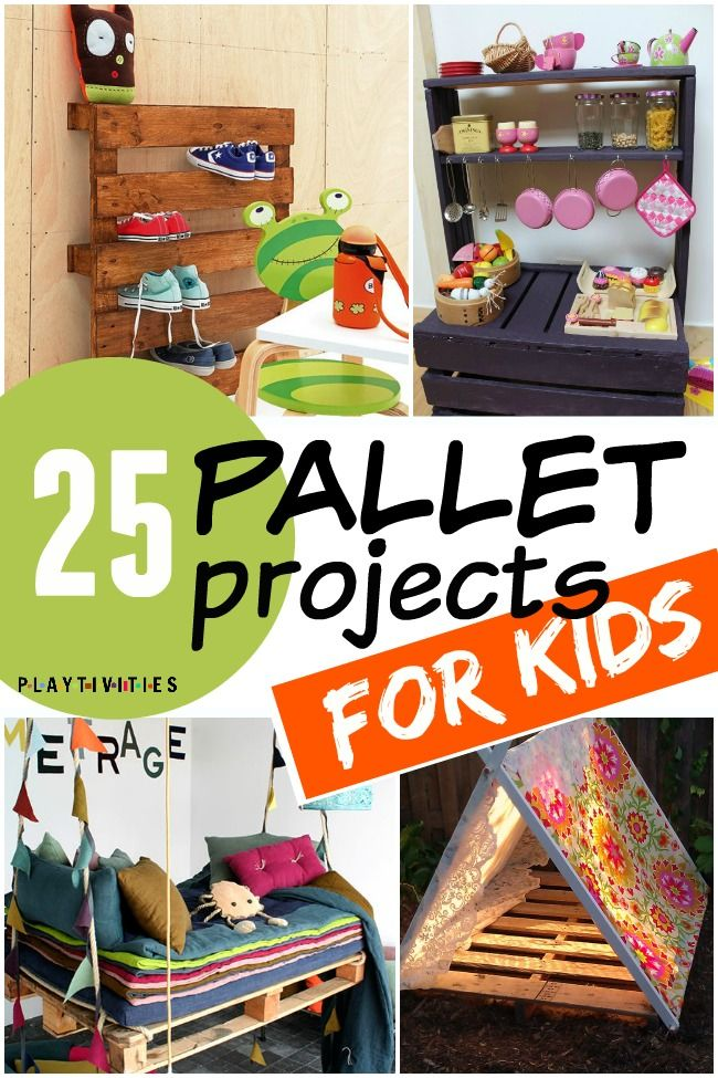 25 Fun Pallet Projects Your Kids Will Appreciate - PLAYTIVITIES