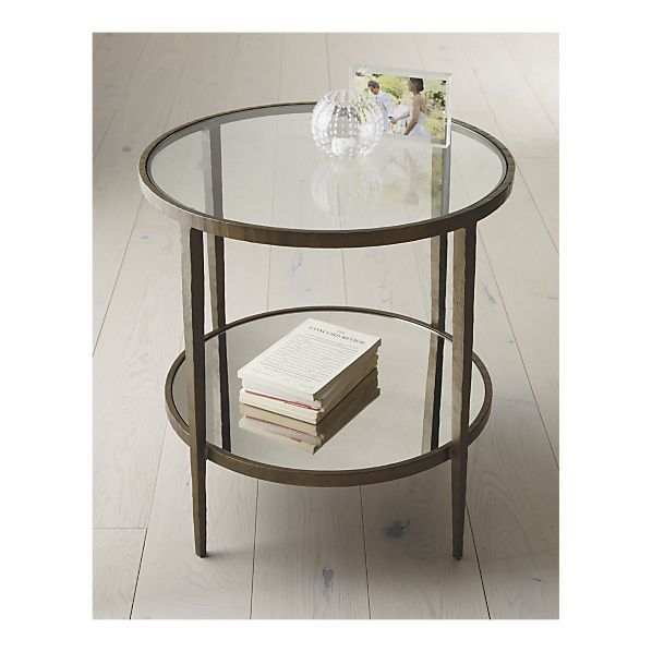 mirror glass forged metal simply perfect clairemont accent table rh pinterest com