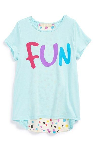 Soprano 'Fun' Polka Dot Envelope Back Tee (Toddler Girls, Little Girls & Big Girls) | Nordstrom