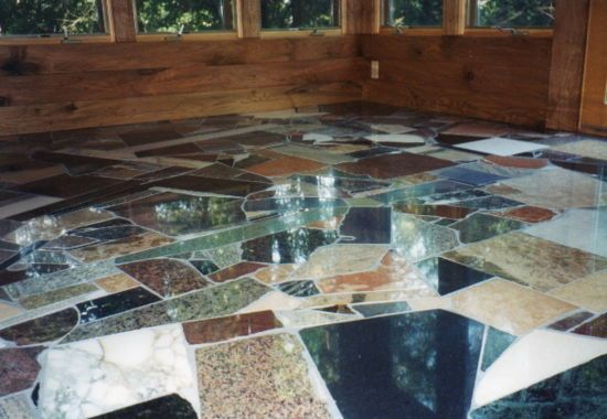 Make Tile Floors From Scrap Materials Unique Flooring Unique