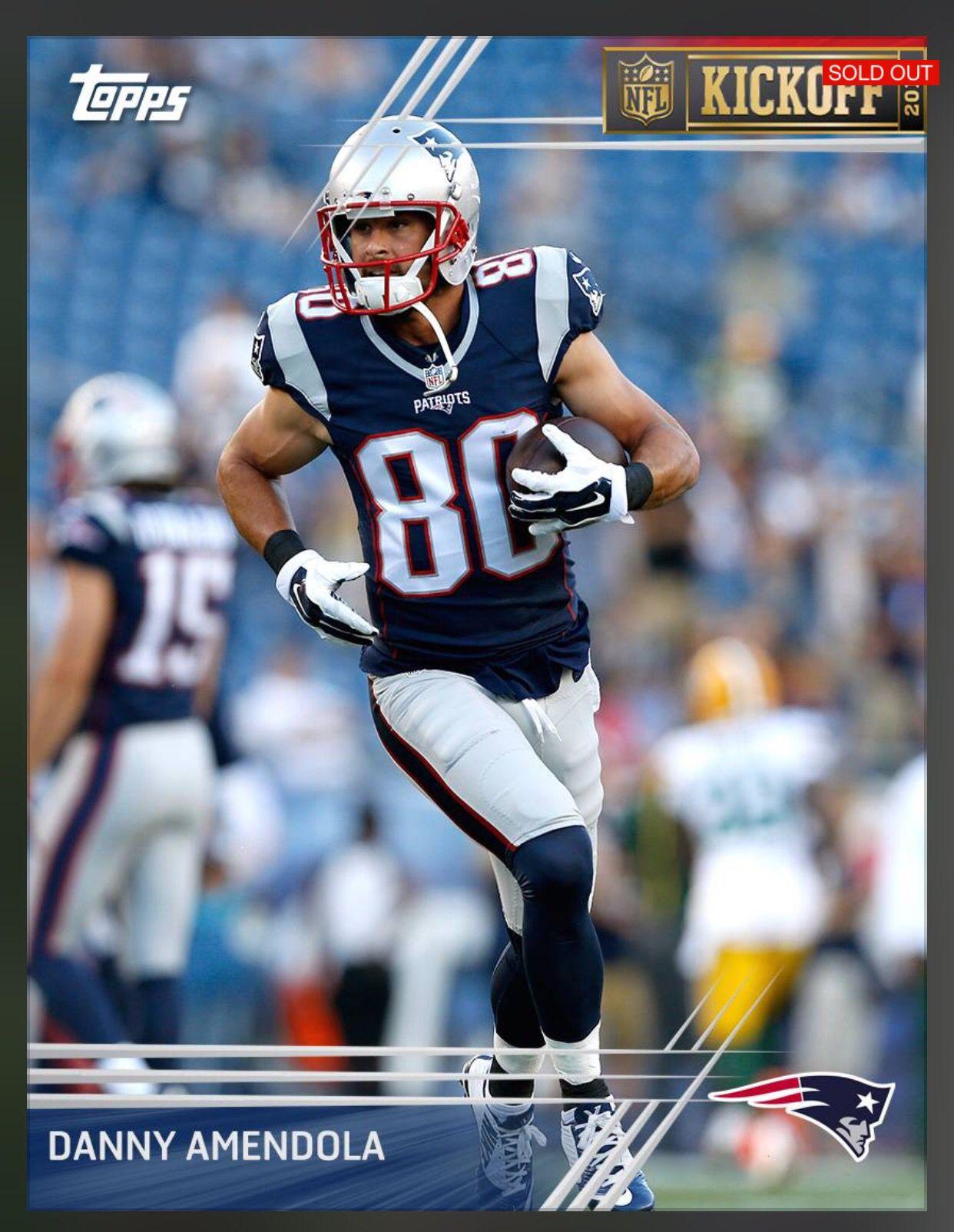 Danny Amendola New England Patriots Limited 2 500 Kickoff 2015 Insert Card 2016 Topps Huddle New England Patriots Danny Amendola Patriots