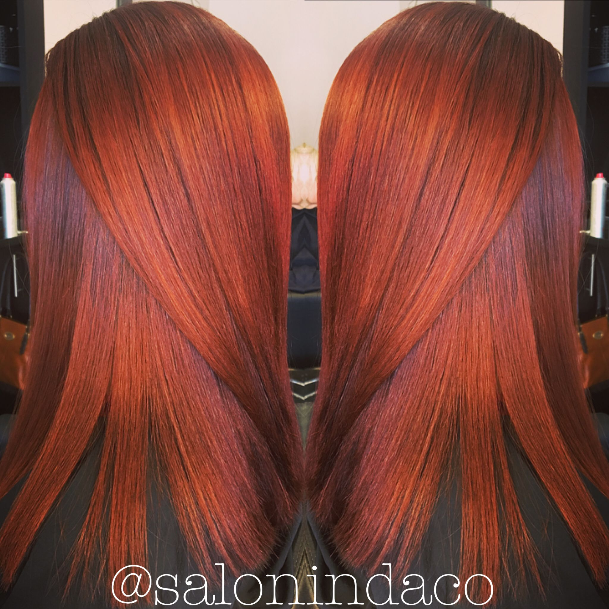 Copper Auburn Red Hair Color Fall Balayage Warm Rooted Colour