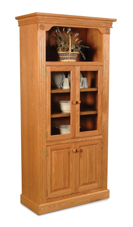 Imperial Bookcase With 2 Glass Door And 2 Solid Door Feature Classic