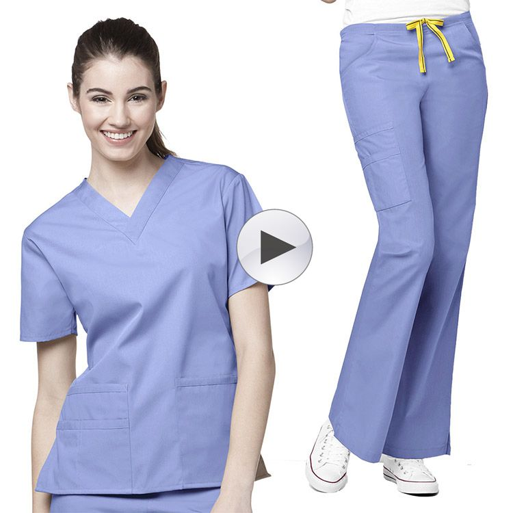 Manufacture Hospital Medical Nurse Scrub Uniform Ceil Blue Suit Womenu0027s  Scrub Set