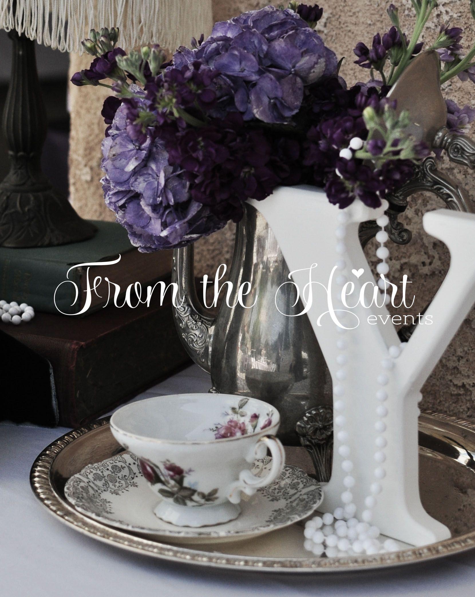 Victorian theme party Vintage vignette using tea