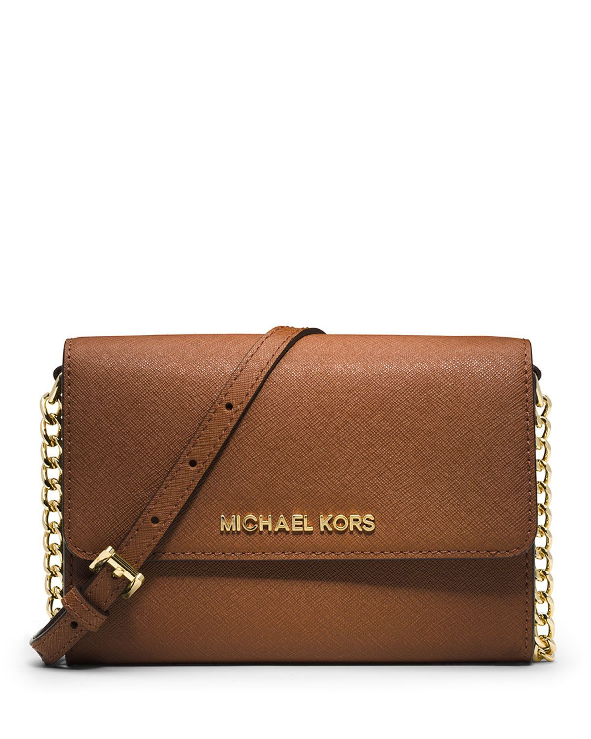 d50aaa5fa674 MICHAEL Michael Kors Jet Set Travel Crossbody Phone Case/Wallet, Luggage