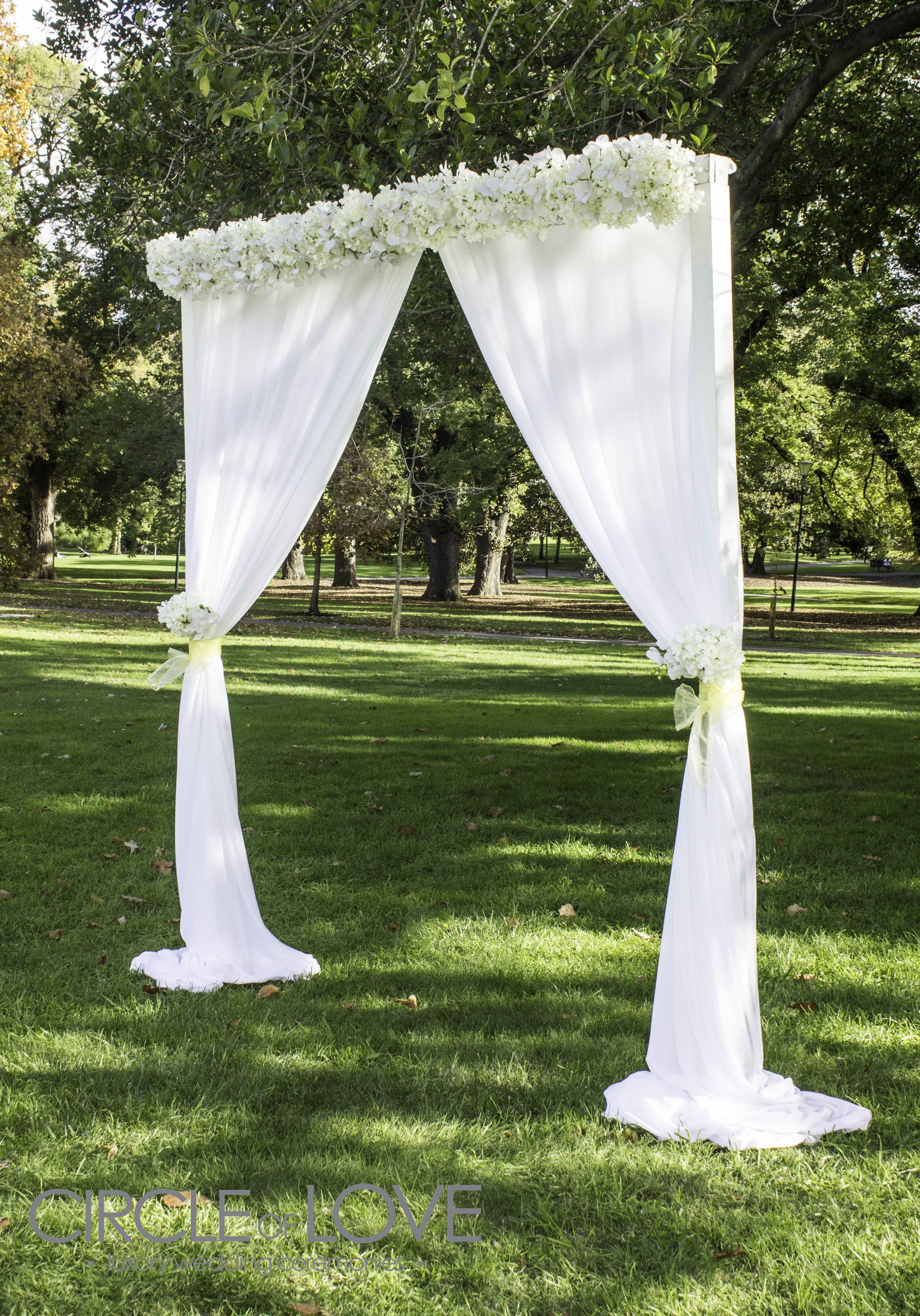 decorating ideas for outside wedding ceremony%0A Garden Wedding Arch