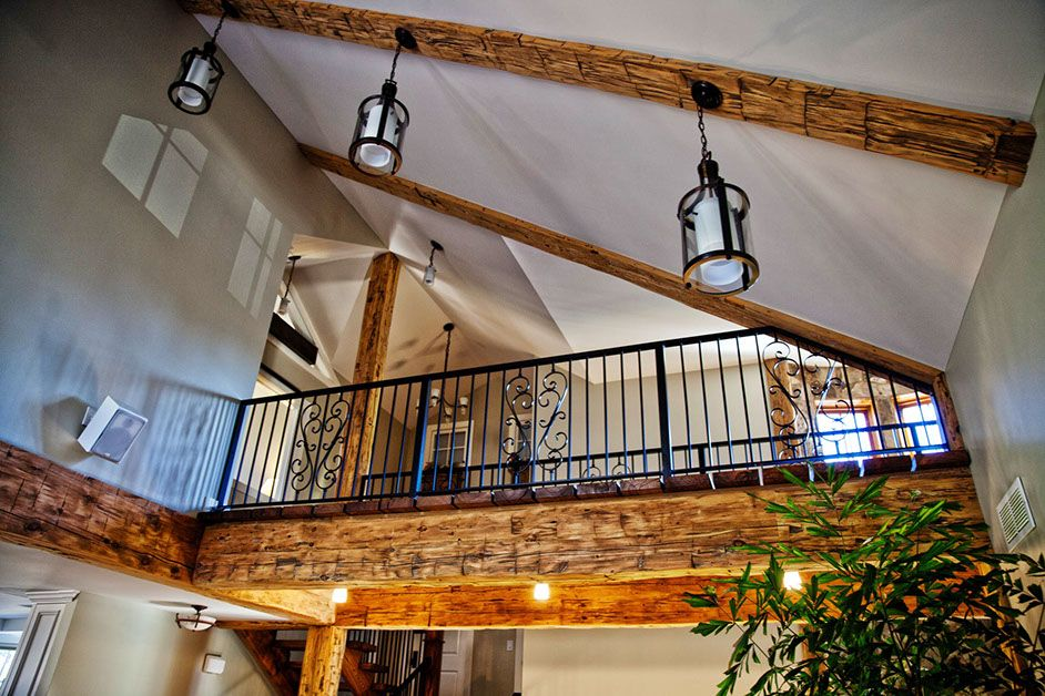 Half Vaulted Ceiling With Beams Joanna Gaines House Home Home