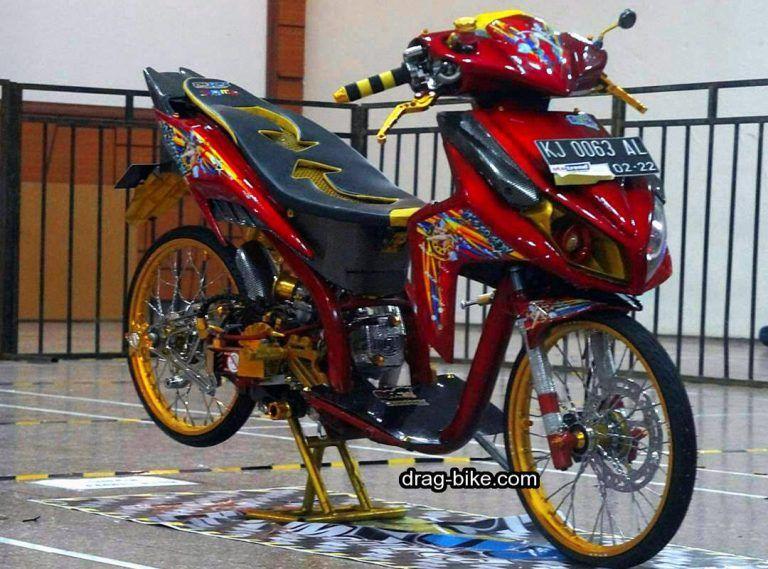 Modifikasi Vario 110 Thailook Warna Merah Merah Motor Gambar