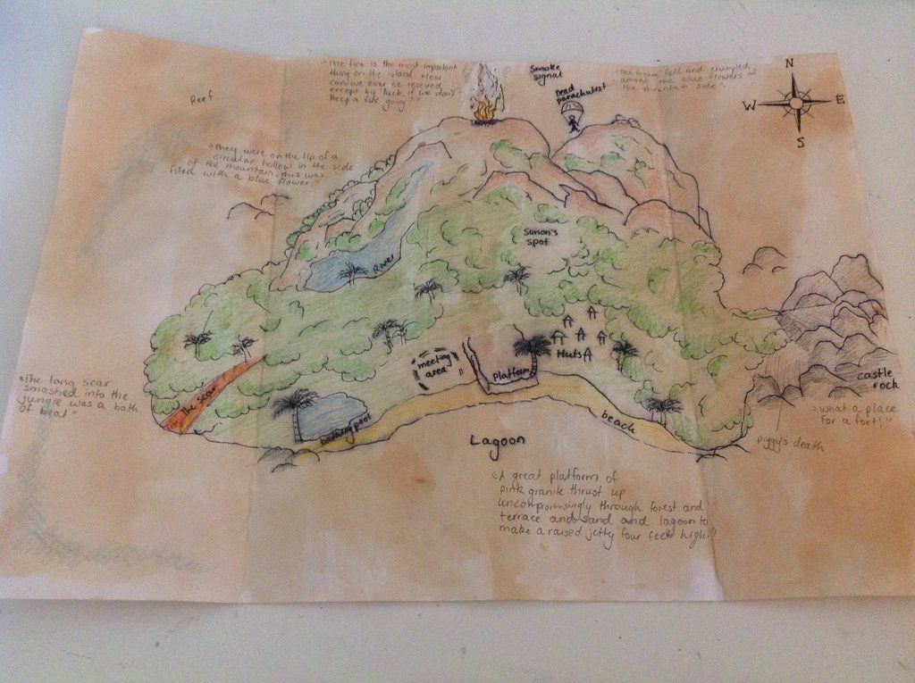 Pin By Mari Mendez On Diy Projects To Try Lord Of The Flies Map Projects Island Map