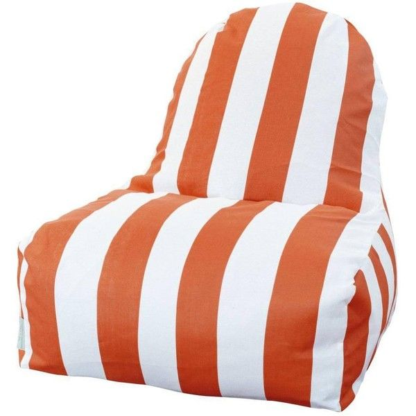 Majestic Home Goods Outdoor Indoor Vertical Stripe Kick-It Chair (145 CAD) ❤ liked on Polyvore featuring home, outdoors, patio furniture, outdoor chairs, orange, outdoor patio furniture, outdoor beanbag chair, outdoor furniture, outdoor beanbag and outdoor garden furniture
