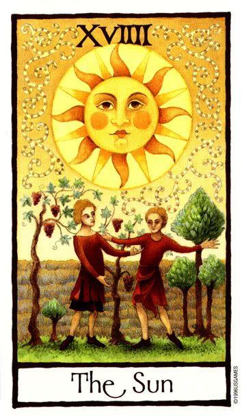 The Sun Tarot.The Sun Card Illuminates Joy, Good Fortune