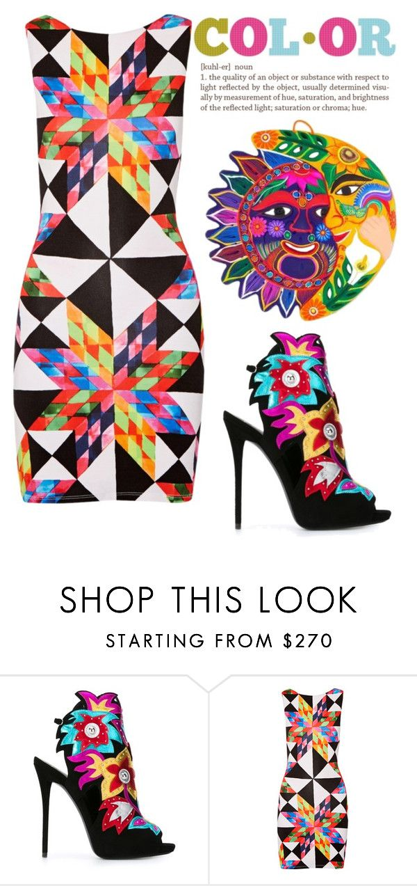 """""""This sun also rises"""" by neverboring on Polyvore featuring Giuseppe Zanotti, Mara Hoffman and NOVICA"""