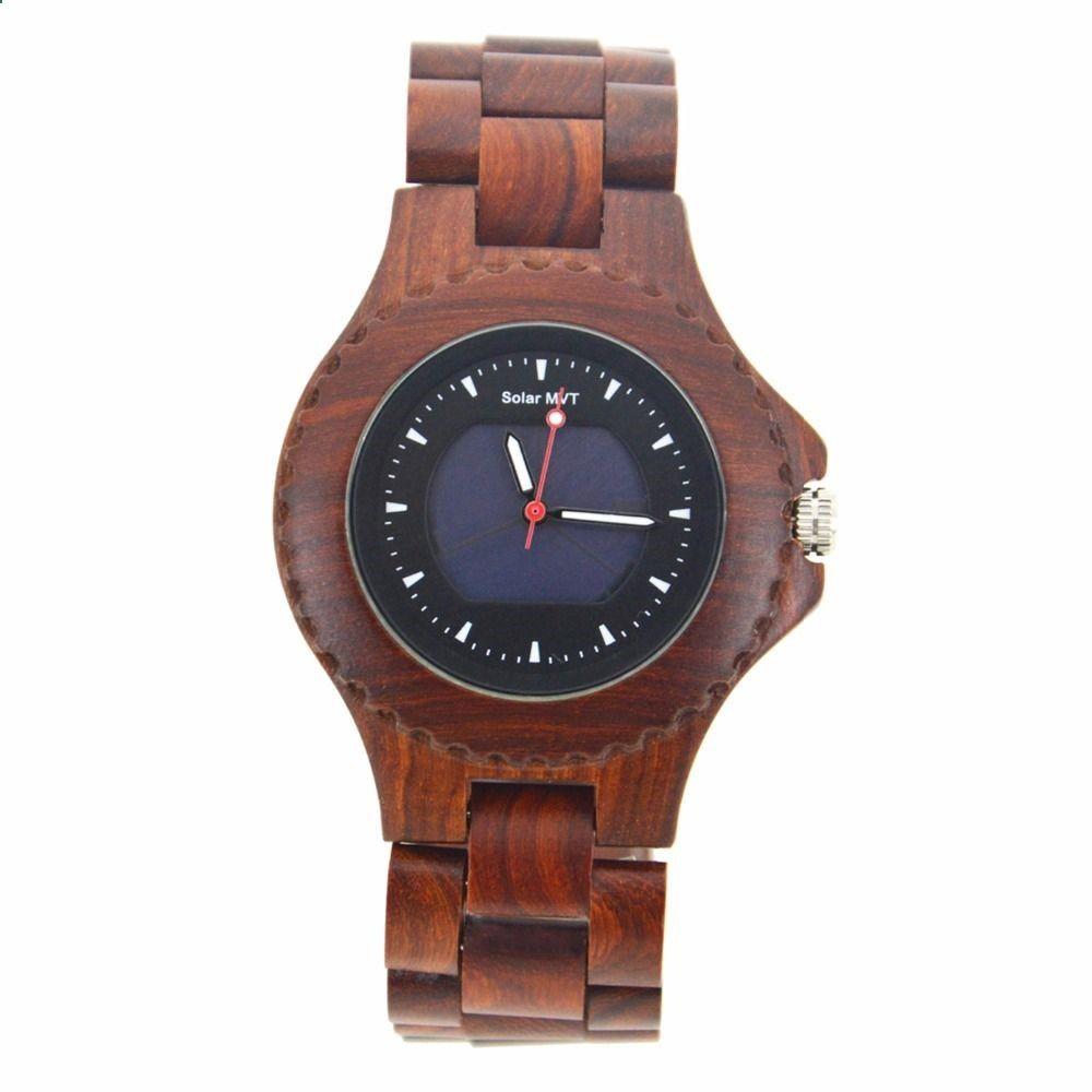 7526dfaee1ba Solar Energy Movement Wooden Watch