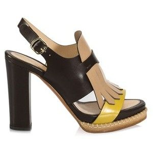 Santoni Leather Sandals With Friges