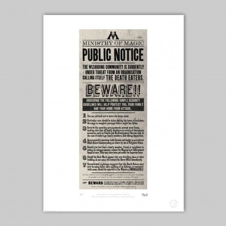 MinaLima - Ministry of Magic Public Notice