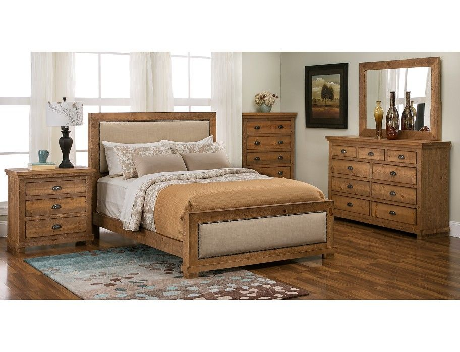 slumberland willow collection pine uph 5 pc room package rooms rh pinterest com