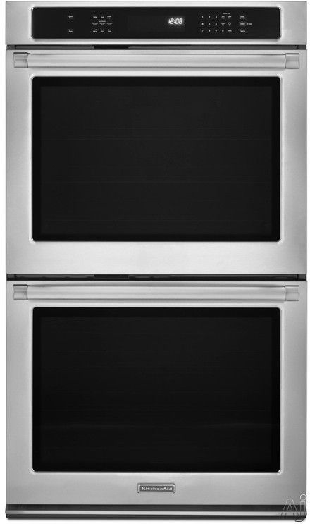 kitchenaid kebs209bsp 30 double electric wall oven with 5 0 cu ft rh pinterest com