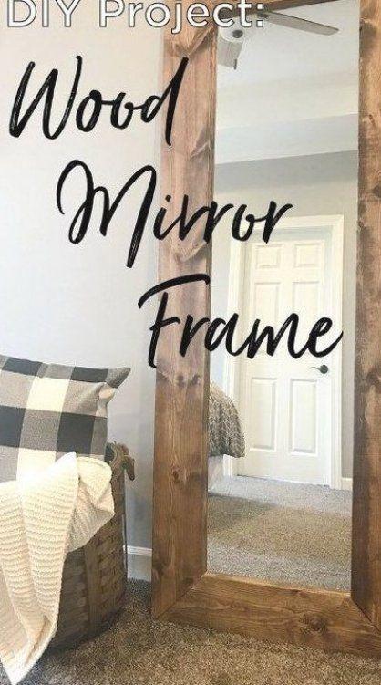 DIY Wood Mirror Frame #DIY #Mirror #howto #FixerUpper #rustic #farmhouse