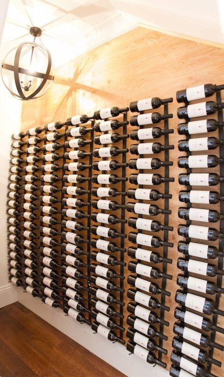 stunning wine cellar with upright iron wine racks side by side over rh pinterest com