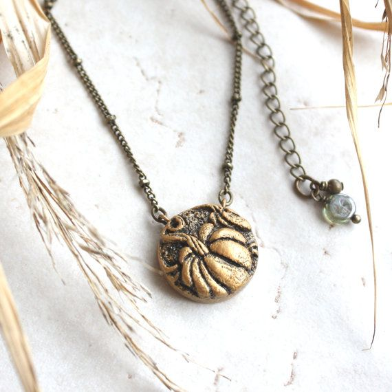 Antiqued Bracelet Pendant Charm with Lobster Clasp Colorful Autumn Fall Leaves