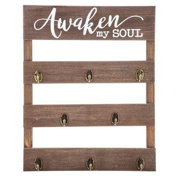Awaken My Soul Pallet Wood Wall Decor With Hooks Wood Pallets