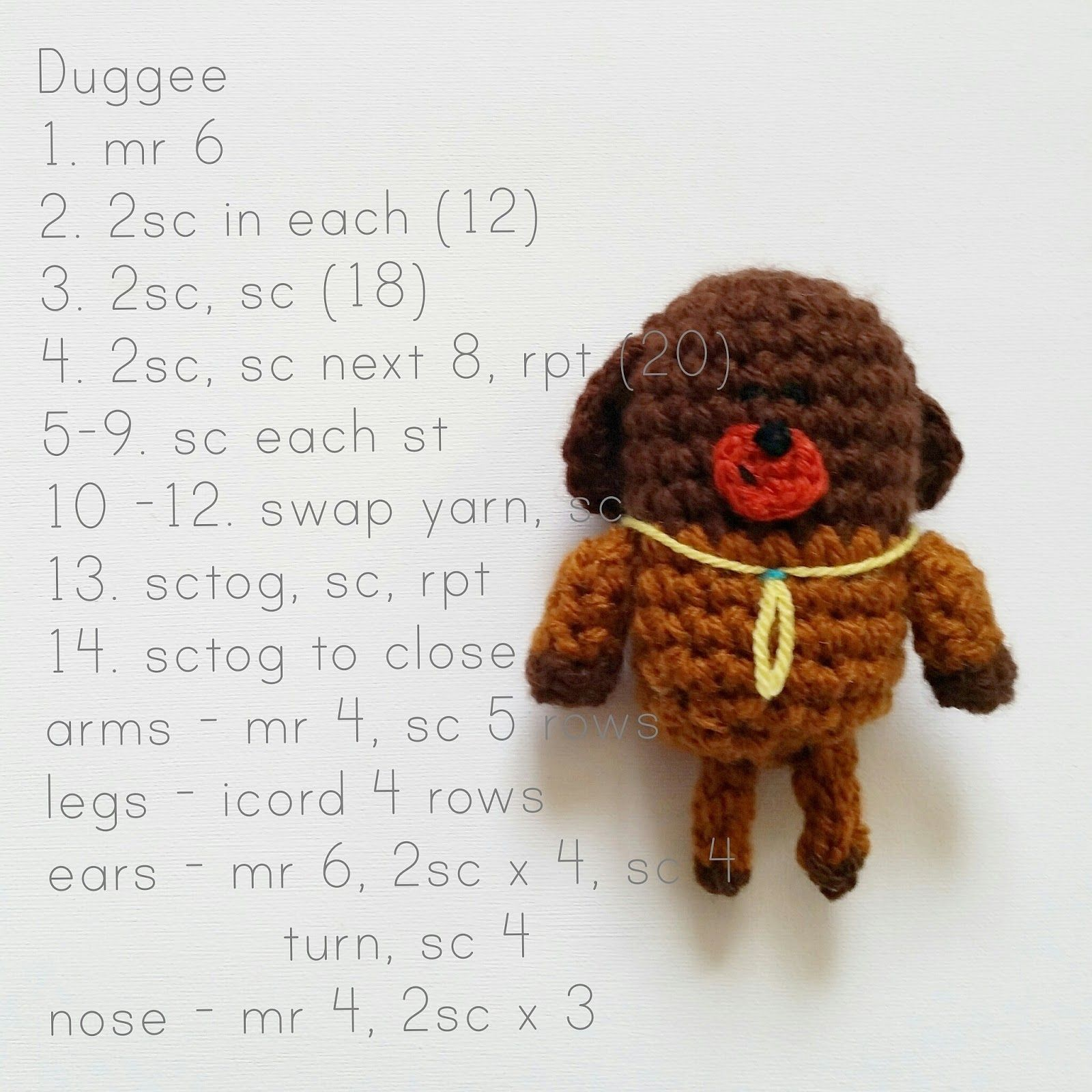 Steel&Stitch: Free \'Hey Duggee\' Crochet Patterns | Crochet | Croché ...