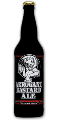 """My husband stumbled upon this, and the humor is """"my style"""".  Read the description for Arrogant Bastard Ale!  Hilarious."""
