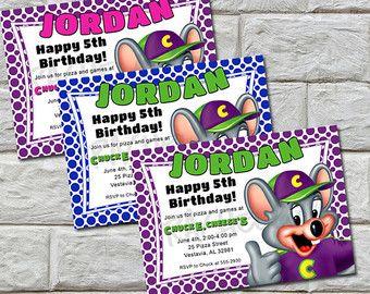 Chuck e cheese birthday party invitation diy printable party chuck e cheese birthday party invitation diy printable filmwisefo Gallery