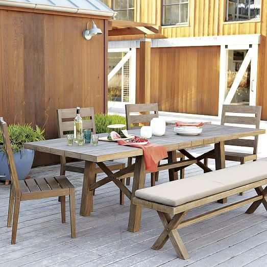 outdoor furniture west elm. Jardine Expandable Dining Table, Driftwood | West Elm $999 Outdoor Furniture