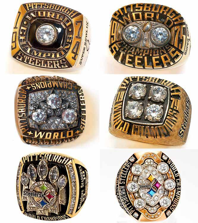 All Six Of The Steelers Super Bowl Rings Yes Thats Terry