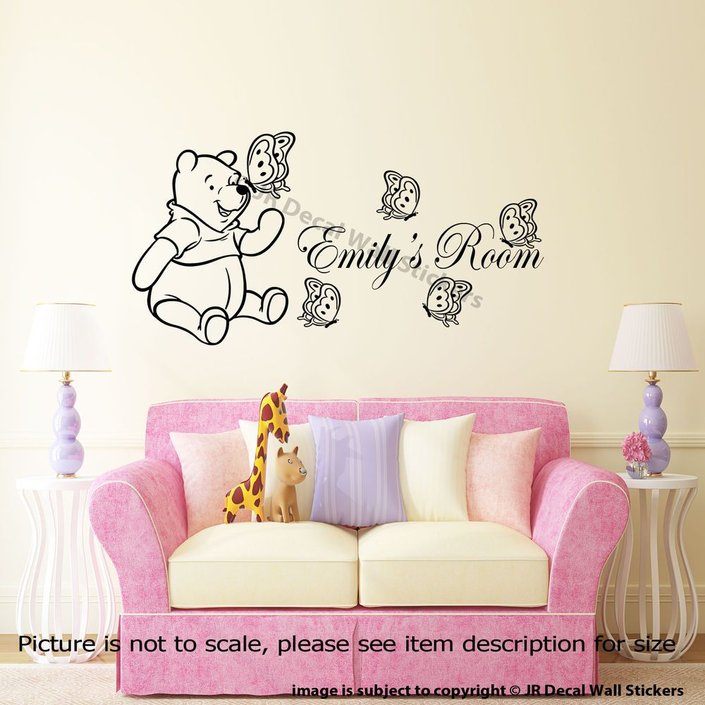Details About Winnie The Pooh Wall Stickers Personalised