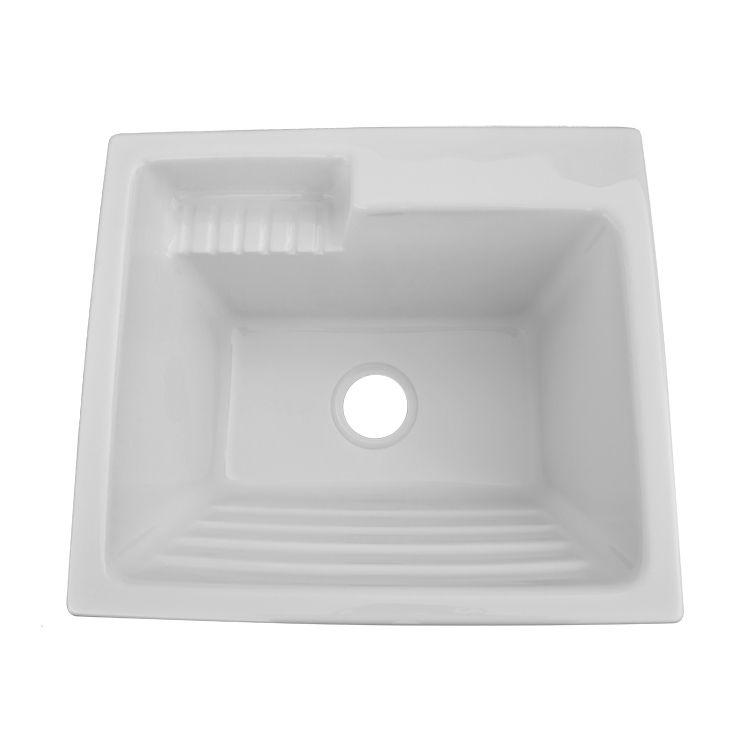 shop acri tec industries 11031 acrylic europa laundry sink at lowe s rh pinterest at
