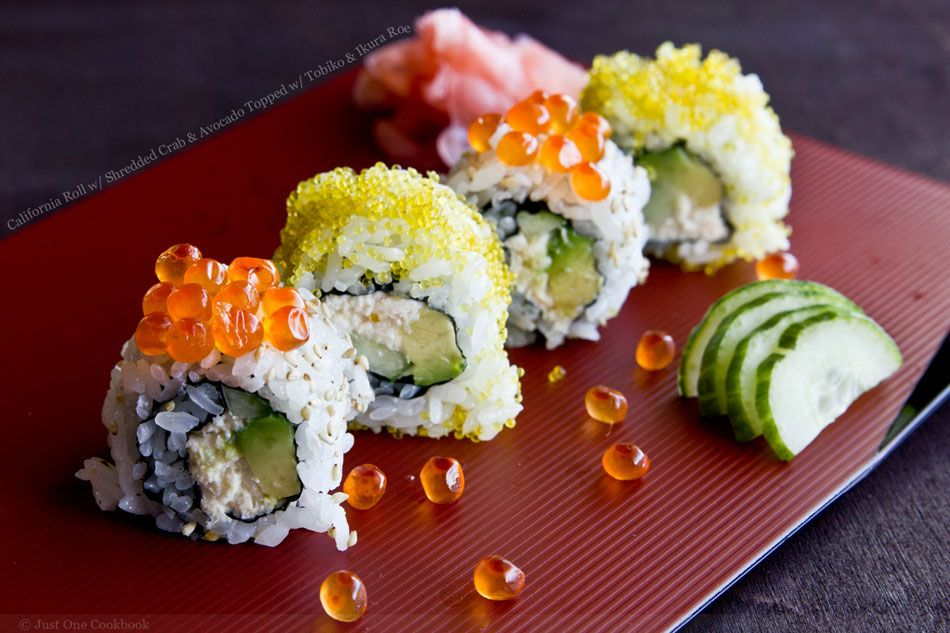 Sushi california roll with shredded crab and avocado topped with california roll is an easy sushi roll to make at home learn how to make this popular sushi roll that is filled with fresh avocado crab meat and japanese forumfinder Image collections