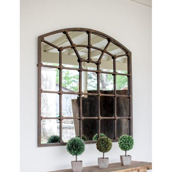 Kalalou Arched Iron Mirror | Foyer decorating, Dining room ...