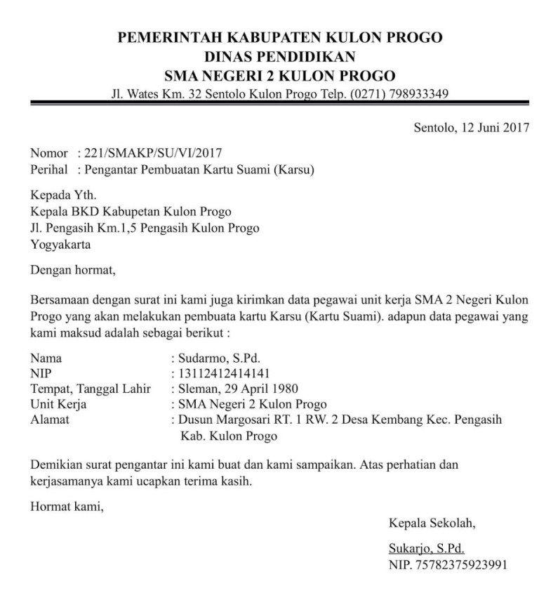 Contoh Surat Pengantar Dokumen Atau Berkas Proposal