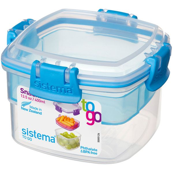 Sistema Blue Snacks to Go Stacking Food Container (5.49