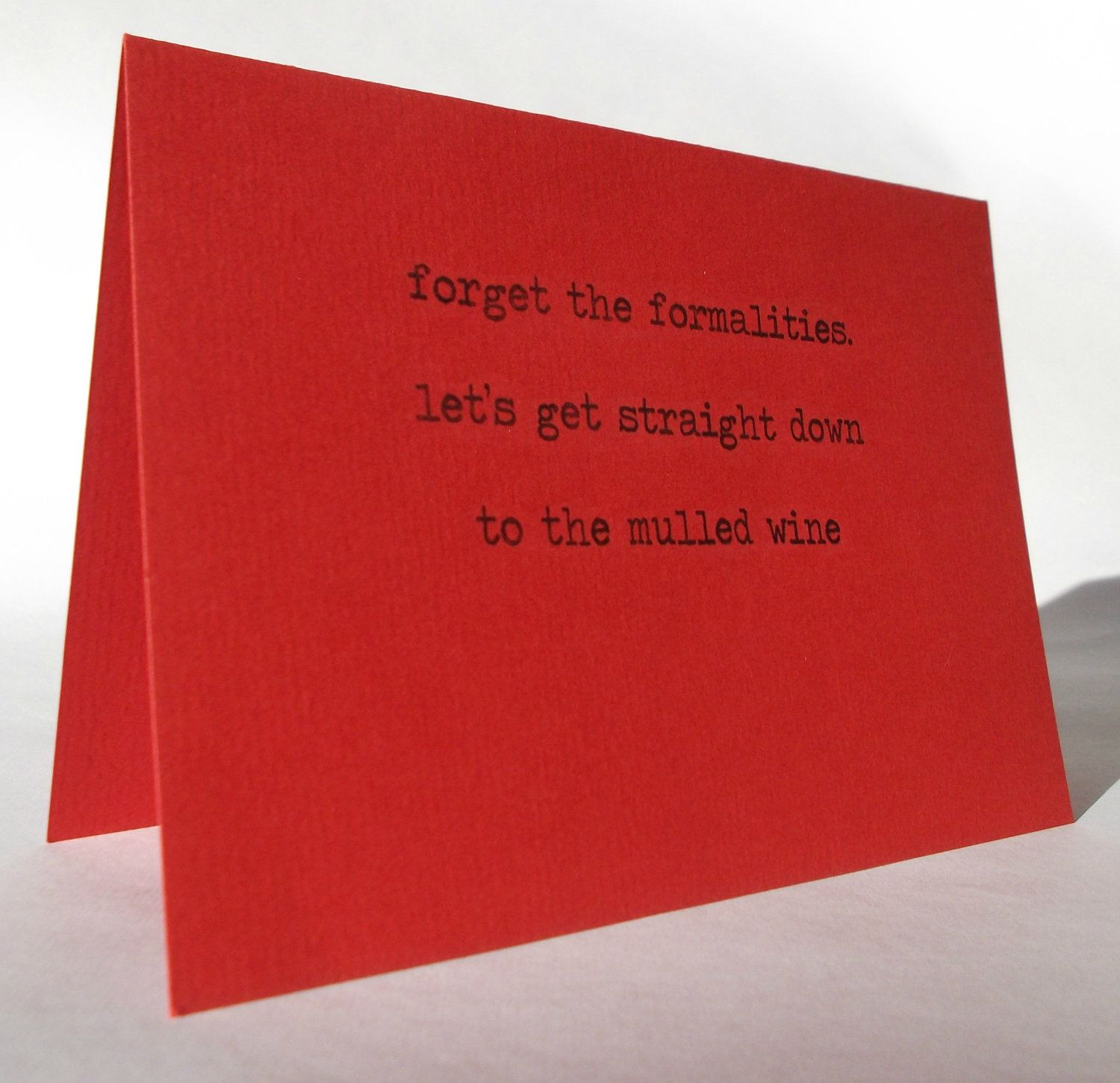 Funny Mulled Wine Christmas Card Red Happy Holidays Merry