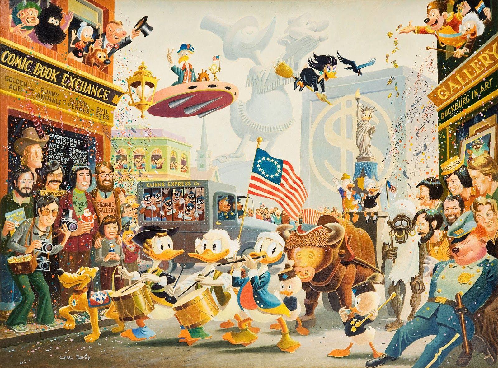 July Fourth in Duckburg by Carl Barks, 1976.