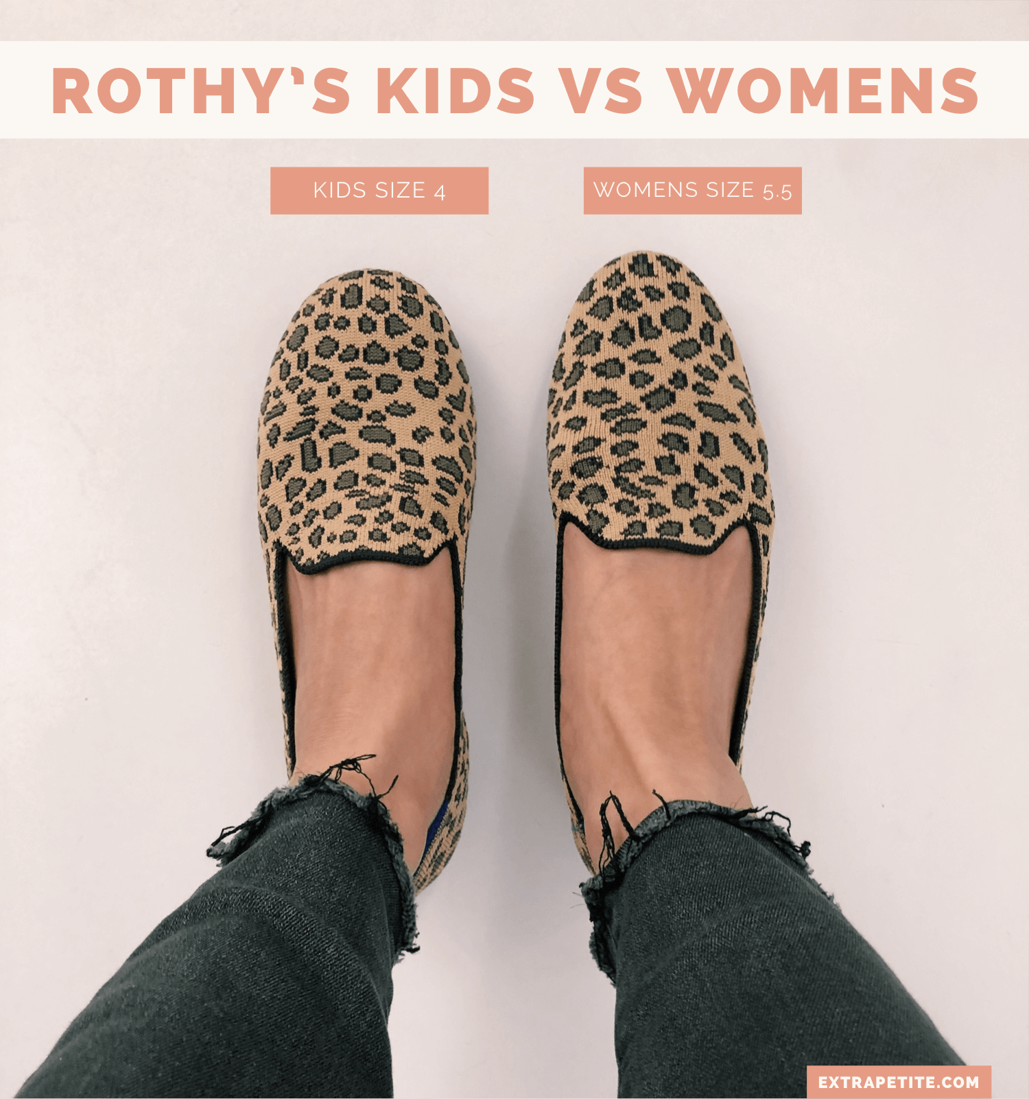 Rothy's style comparison + womens vs kids differences