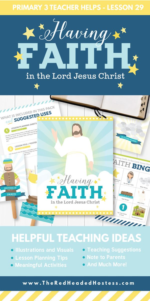 choose the right b lesson 29 having faith in the lord jesus rh pinterest ca
